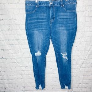 Maurices high rise skinny distressed jeans